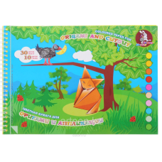 """Альбом цветной бумаги для оригами и аппликации """"Басня"""""""