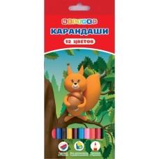 """Карандаши цветные """"ЦВЕТИК"""", 12 цветов."""