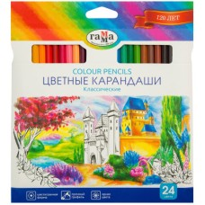 Набор цветных карандашей «Классические» шестигранные, 24 шт.
