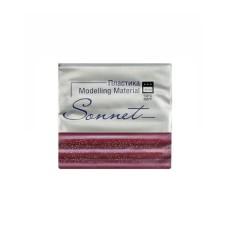 Пластика Сонет Вишневый с блестками, брус, 56 гр