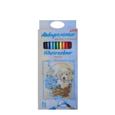 Акварельные цветные карандаши Hatber 12 цветов
