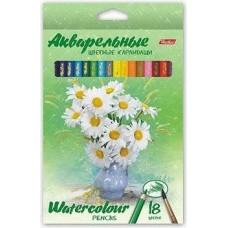 """Hatber Акварельные цветные карандаши """"Букет"""" 18 цветов"""