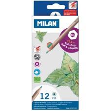 Карандаши Milan 12цв., заточен., утолщенный грифель, картон. уп., европодвес