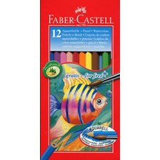 """Faber-Castell Акварельные цветные карандаши  """"Рыбки"""" 12цв.+кисть"""