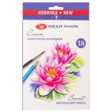 Акварельные Карандаши цветные Сонет, 18 цветов