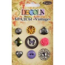 """Брадсы """"Vintage"""", Decola,9 шт"""