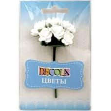 """Цветы из бумаги белые """"Decola"""""""