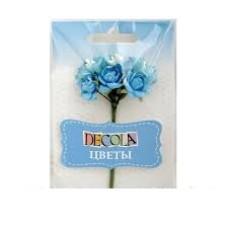"""Цветы из бумаги голубые """"Decola"""""""