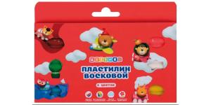 """Пластилин восковой """"ЦВЕТИК"""", 6 цветов, со стеком."""