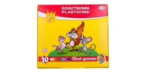 """Пластилин Гамма """"Юный художник"""" 10 цветов, со стеком, картон"""