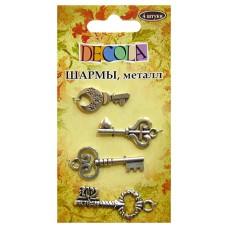 "Шармы, металл, ""Ключи"", 4шт"