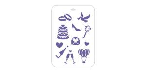 Трафарет пластиковый «Сонет» Свадебные иконки 22х31см
