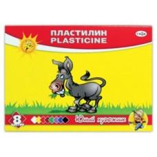 """Пластилин """"ЮНЫЙ ХУДОЖНИК"""", 8 цветов, со стеком"""